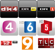Danish TV & Radio logos