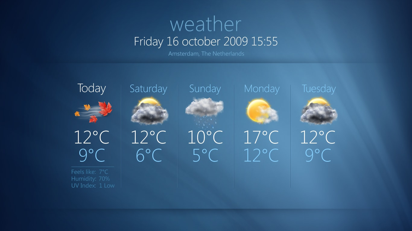 Check the Weather, News and more - MEDIAPORTAL
