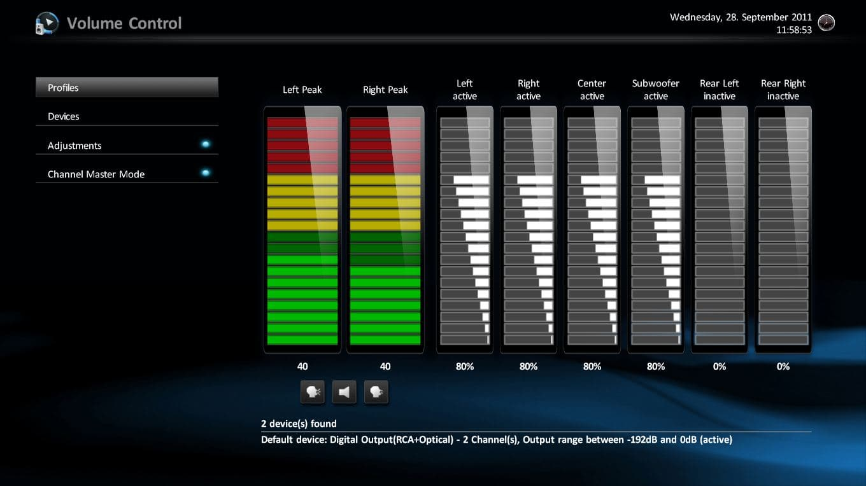 Control Volume Aerodynamic : Volume control mediaportal