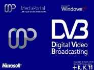 MediaPortal Boot with DVB-Logo