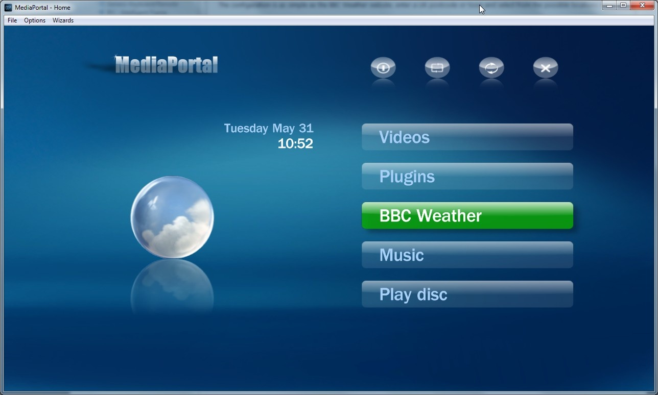 Bbc weather - And That S It Then Launch Mediaportal And Select The Bbc Weather Plugin