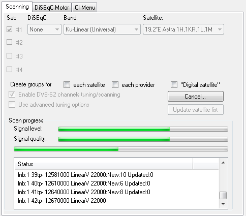 Scan DVB-S