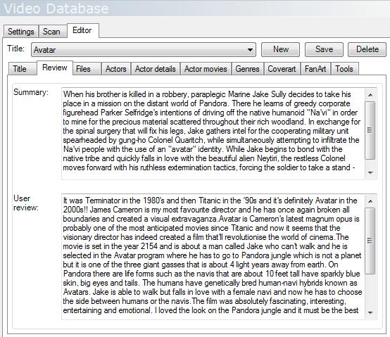MediaPortal Configuration - Videos - Video Database - Editor -  Review.png?version=1&modificationDate=1458515817000&api=v2